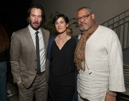 Keanu Reeves, Carrie-Anne Moss y Laurence Fishburne