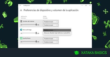 Cómo configurar dónde se escucha el sonido de cada aplicación en Windows 10