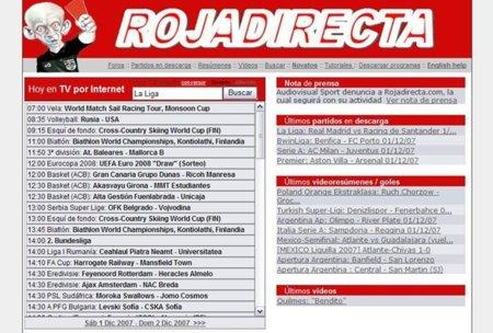 Roja Directa resiste como rojadirecta.es