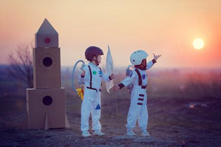 niños y espacio