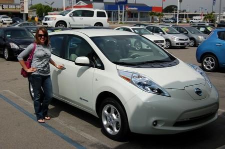 Compradora del Nissan LEAF
