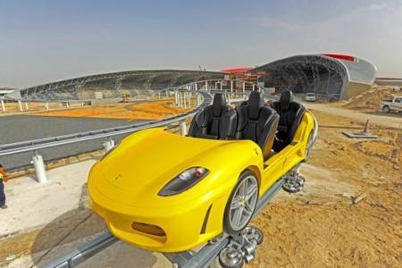 Primera foto de la montaña rusa de Ferrari en Abu Dhabi
