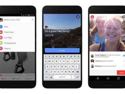 Facebook lanza el streaming en vídeo desde Android