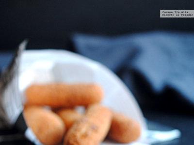 Receta de mozzarella sticks rellenos de...¡mozzarella!