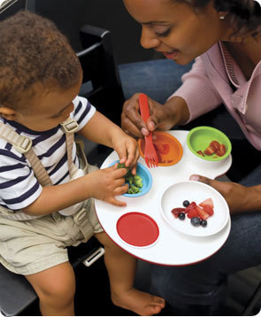 Bandeja Palette Plate para servir la comida del bebé