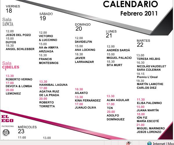 Foto de Novedades en la Pasarela Cibeles y ¡ya tenemos el calendario! (5/5)