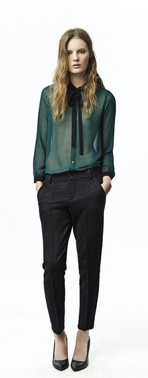 Transparencia verde Zara Trafaluc colección octubre