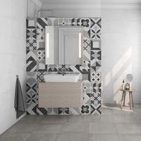 Texturas en relieve y acabado hidráulico tradicional, nuevas apuestas para revestimientos en el baño