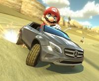 El fontanero bigotudo pasa del kart al Mercedes en el DLC gratuito de Mario Kart 8
