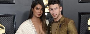 Y el premio al escote más vertiginoso de los Premios Grammy 2020 se lo ha llevado Priyanka Chopra (con un diseño de Ralph & Russo)