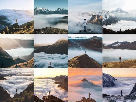 Persona Y Nubes