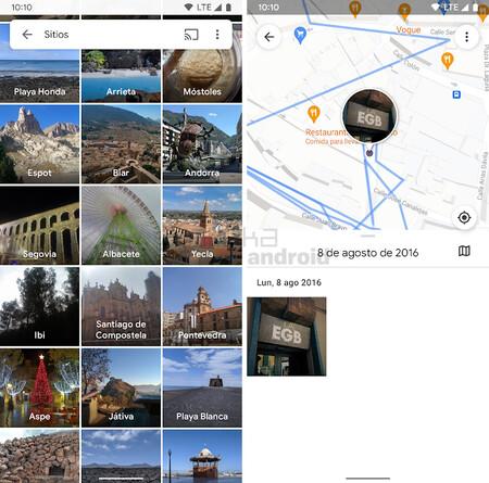 Google Fotos Sitios