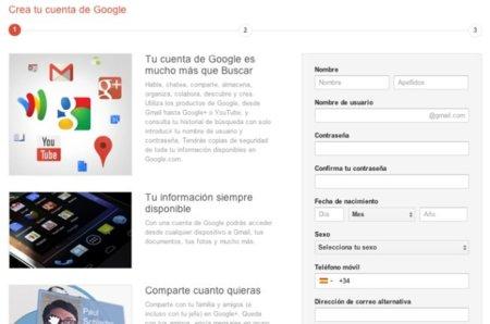 ¿Quieres registrarte en Gmail? Pues vas a entrar en Google+ quieras o no