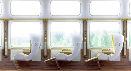 Christopher Jenner rediseña el interior de los trenes ¿serán así en el futuro?