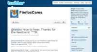 Mozilla se apunta al soporte a través de Twitter