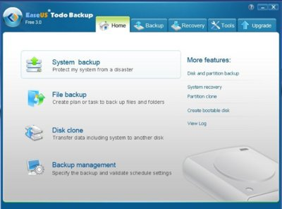 Easeus Todo Backup Free 3.0 mejora la funcionalidad para realizar copias de seguridad