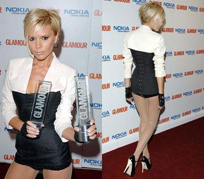 El look de Victoria Beckham en los premios Glamour