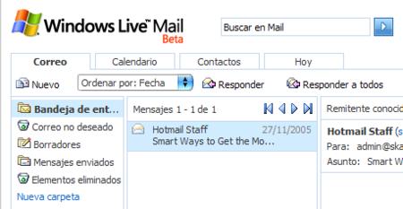 Entra en Microsoft Mail Beta