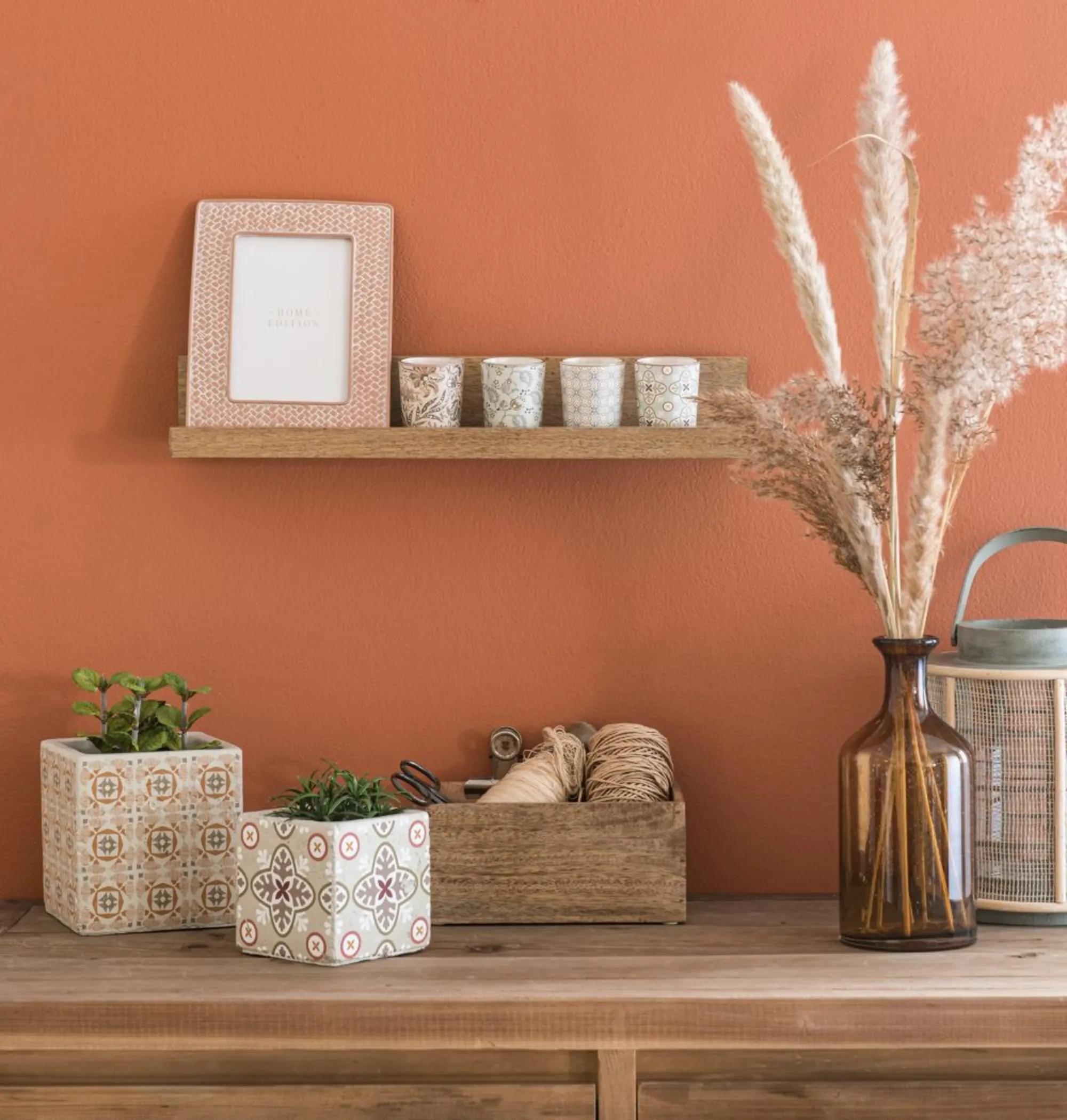 Estantería de madera de mango para pared