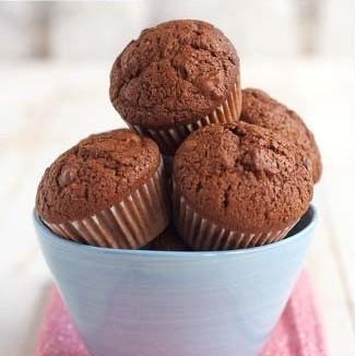 Receta de muffins de chocolate y nueces