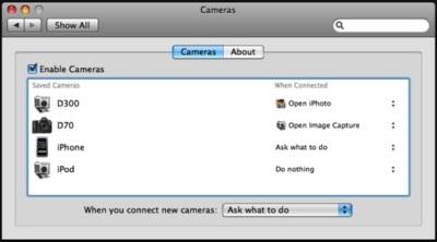 Cameras, configura el funcionamiento de cada cámara que conectas