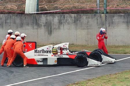 Senna Prost Suzuka F1 1989