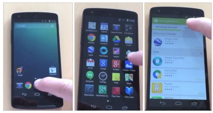 Nexus 5 y Android 4.4 se dejan ver en vídeo