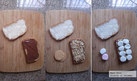 Sándwiches de Nutella y malvavisco. Receta fácil