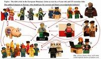 Niño de 9 años interpreta la crisis financiera con muñecos en miniatura
