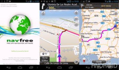 Navfree, navegador GPS offline y gratuito