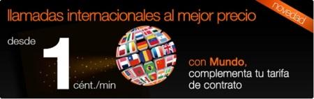 Orange extiende las llamadas internacionales por 1 céntimo/minuto a los clientes de contrato