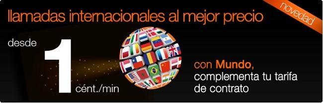 1 céntimo/minuto internacionales contrato Orange