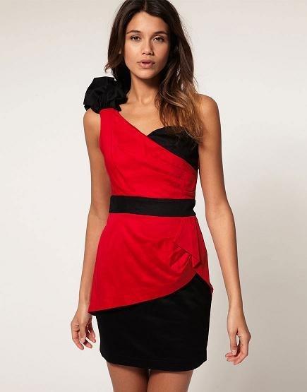 vestido rojo asos