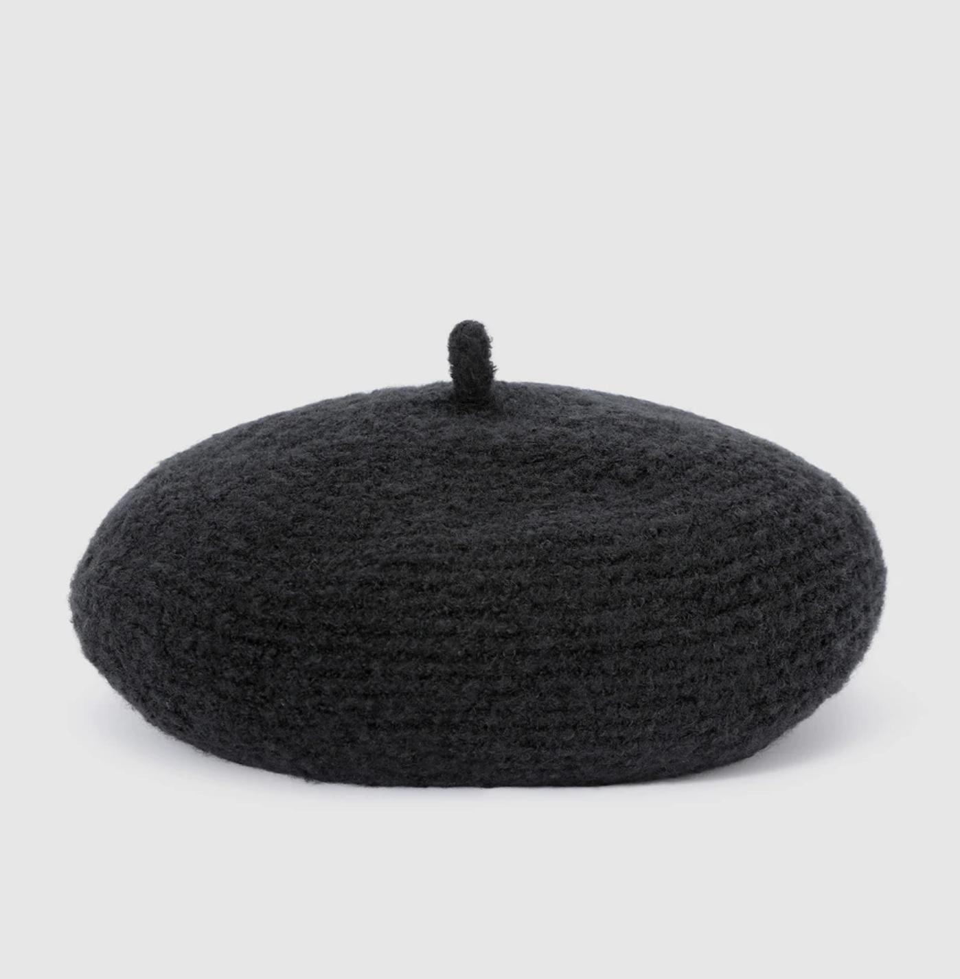 Boina de mujer El Corte Inglés de lana en negro