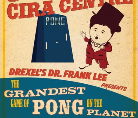 Jugar al Pong por todo lo grande en la fachada de un rascacielos