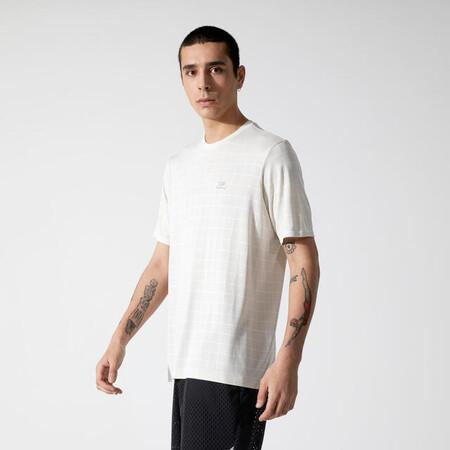Camiseta Running Kalenji Dry Feel Hombre Caqui Oscuro Transpirable Corte Ancho