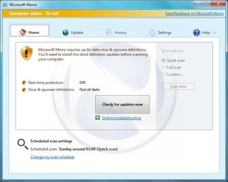 Primeras capturas de Morro, el antivirus gratuito de Microsoft