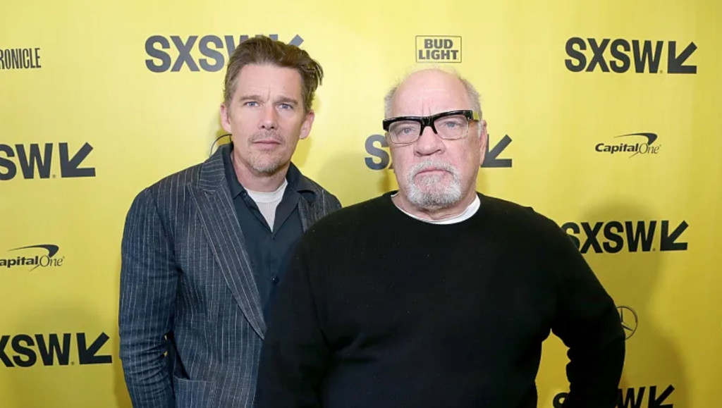 Paul Schrader and Ethan Hawke repeated after 'The reverend' in a western alongside Willem Dafoe
