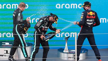 Verstappen Hamilton Bottas Espana F1 2020