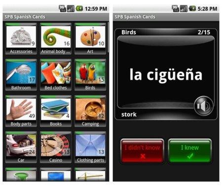 SPB Flash Cards para Android o como aprender idiomas fácil y rápidamente