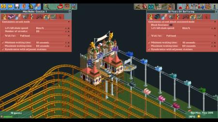 Esta montaña rusa de RollerCoaster Tycoon 2 tarda más de 12 años en completar su ciclo
