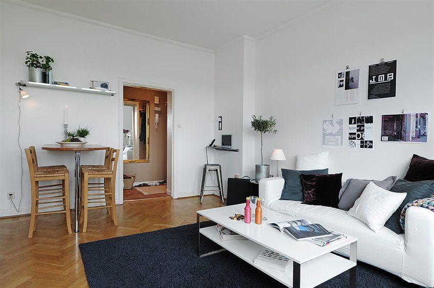 Puertas abiertas: un apartamento de 38 metros cuadrados de inspiración escandinava