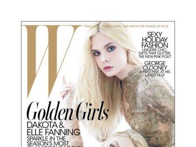 Dakota y Elle Fanning portada de W Diciembre: como dos gotas de agua