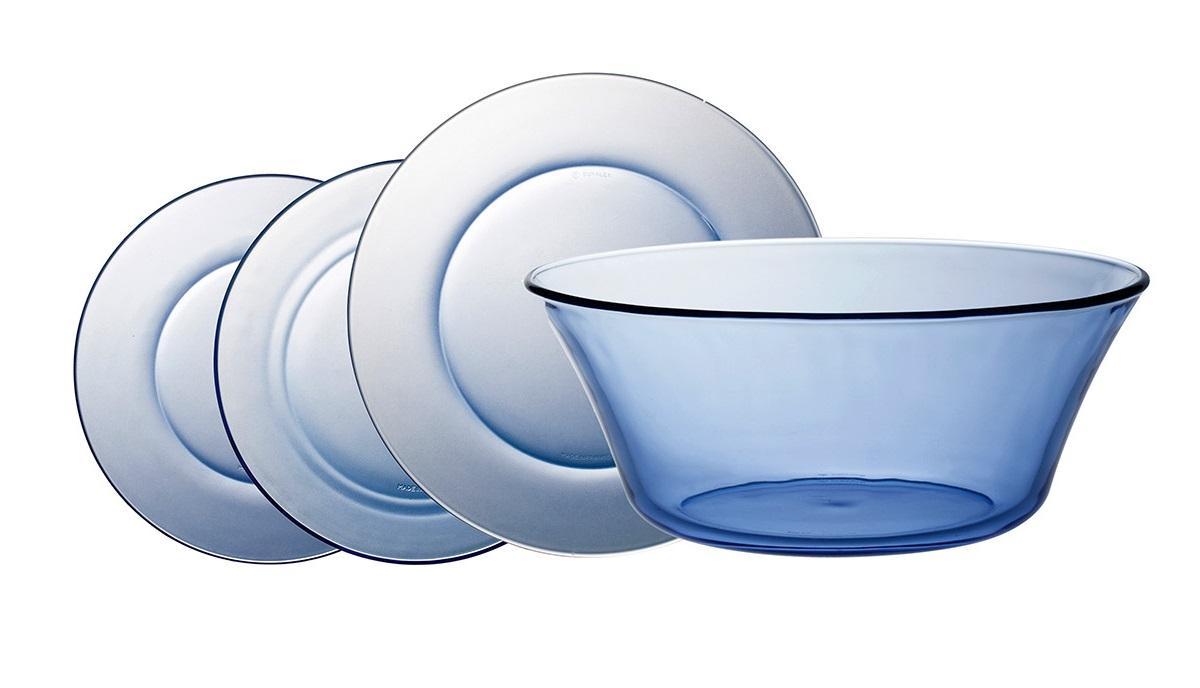 Vajilla Duralex en azul