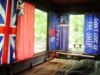 Banderas como cortinas
