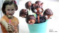Muñecos comestibles de bizcocho y chocolate. Receta para hacer con niños