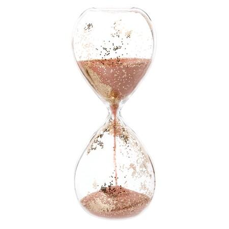Reloj De Arena De Cristal Con Purpurina 1000 12 23 204777 1