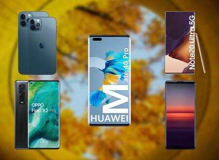 Comparativa del Huawei Mate 40 Pro: lo enfrentamos al Samsung Galaxy Note 20 Ultra, iPhone 12 Pro Max y los mejores gama alta del año