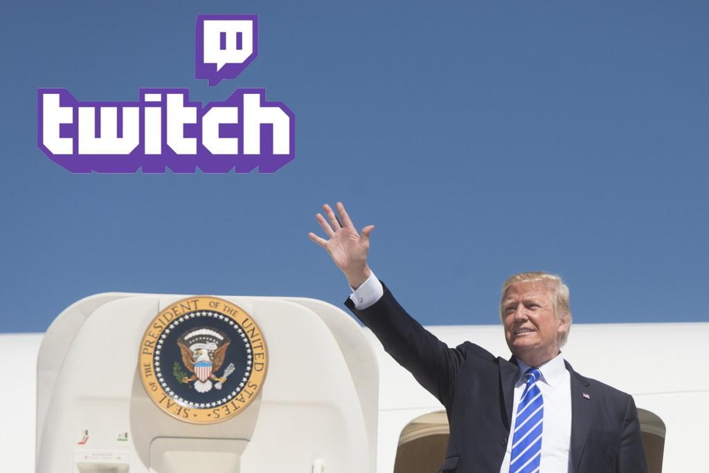 Twitch suspende temporalmente la cuenta de Donald Trump por