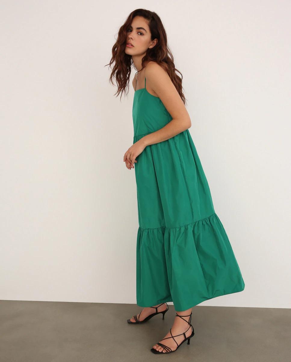 Vestido largo verde de Fórmula Joven